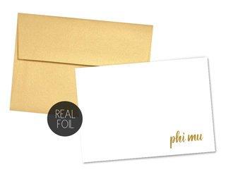 Phi Mu Foil Script Notecards(6)