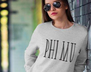 Phi Mu Inline Sweatshirt