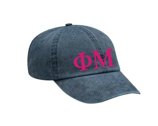 Phi Mu Letters Hat