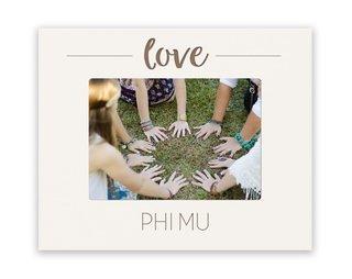 Phi Mu Love Picture Frame