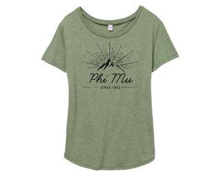 Phi Mu Mountain Backstage Tee