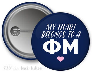 Phi Mu My Heart Belongs to a Button
