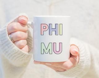 Phi Mu Pastel Mug