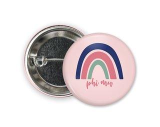 Phi Mu Rainbow Button