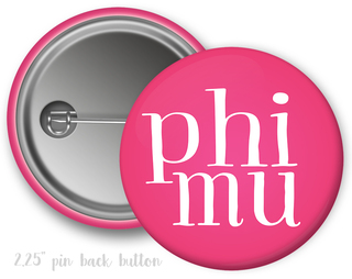 Phi Mu Simple Text Button