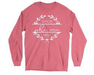 Phi Mu Since 1852 Long Sleeve