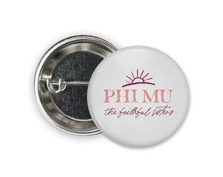 Phi Mu Sun Button