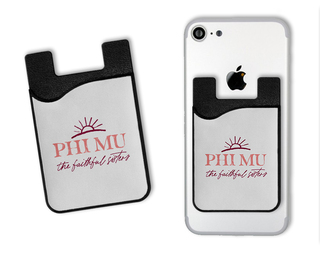 Phi Mu Sun Card Caddy
