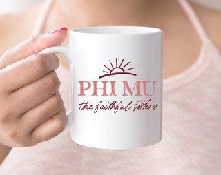 Phi Mu Sun Mug