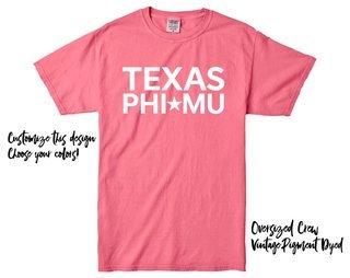 Phi Mu Texas Tee