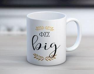 Phi Sigma Sigma Big Coffee Mug