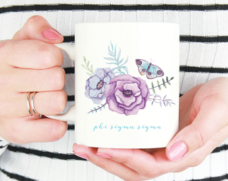 Phi Sigma Sigma Butterfly Mug