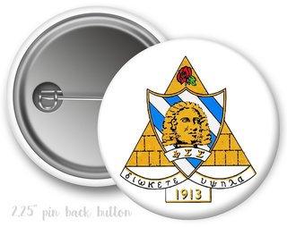 Phi Sigma Sigma Color Crest - Shield Button