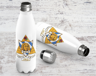 Phi Sigma Sigma Crest - Shield Stainless Steel Water Bottle