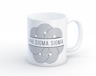 Phi Sigma Sigma Geo Scroll Mug