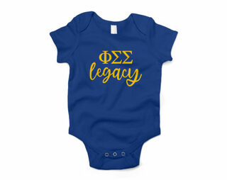 Phi Sigma Sigma Legacy Baby Outfit Onesie