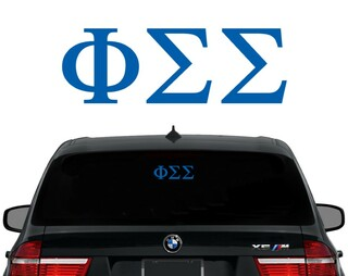 Phi Sigma Sigma Letters Decal