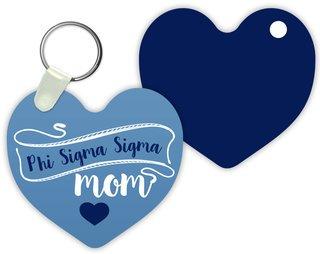 Phi Sigma Sigma Mom Keychain