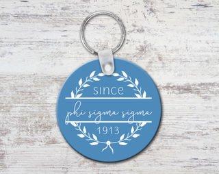Phi Sigma Sigma Since Established Keyring