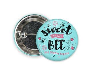 Phi Sigma Sigma Sweet Bee Button