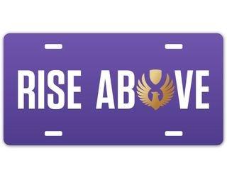 Sigma Alpha Epsilon Rise Above License Plate