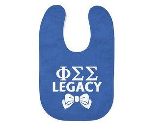 Phi Sigma Sigma Legacy Baby Bib