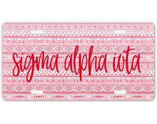 Sigma Alpha Iota Aztec License Plate