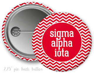 Sigma Alpha Iota Chevron Monogram Button