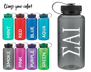 Sigma Alpha Iota Classic Letters Water Bottle