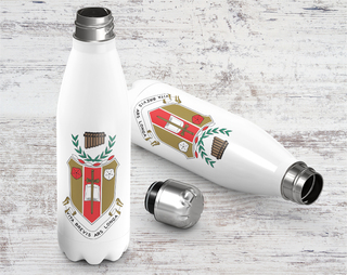 Sigma Alpha Iota Crest - Shield Stainless Steel Water Bottle