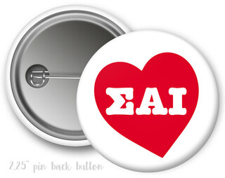 Sigma Alpha Iota Heart Mascot Button