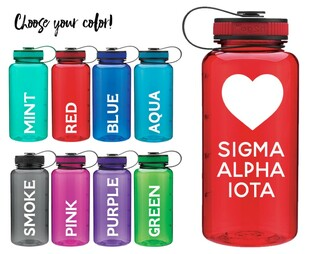 Sigma Alpha Iota Heart Water Bottle