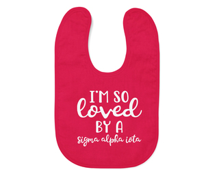 Sigma Alpha Iota I'm So Loved Baby Bib