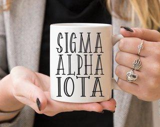Sigma Alpha Iota Inline Coffee Mug