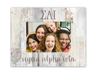 Sigma Alpha Iota Letters Barnwood Picture Frame