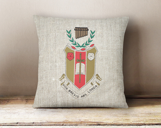 Sigma Alpha Iota Linen Crest - Shield Pillow