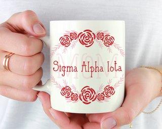 Sigma Alpha Iota Mom Floral Mug
