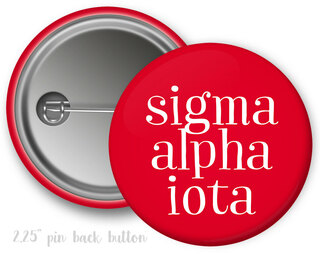Sigma Alpha Iota Simple Text Button