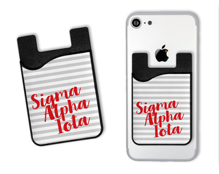 Sigma Alpha Iota Sorority Stripes Caddy Phone Wallet