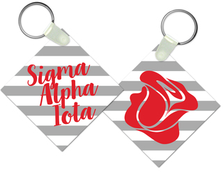 Sigma Alpha Iota Striped Mascot Keychain