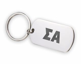 Sigma Alpha Letters Stainless Keychain