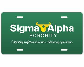 Sigma Alpha Logo License Plate