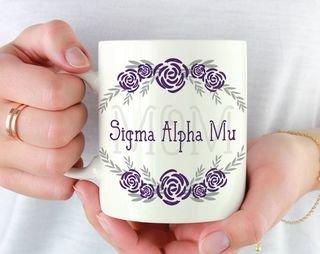 Sigma Alpha Mu Mom Floral Mug