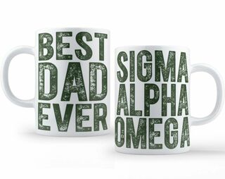 Sigma Alpha Omega Best Dad Ever Coffee Mug