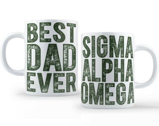 Sigma Alpha Omega Best Dad Ever Coffee Mug