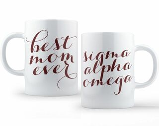 Sigma Alpha Omega Best Mom Ever Coffee Mug