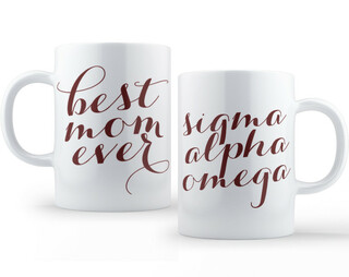 Sigma Alpha Omega Best Mom Ever Coffee Mug