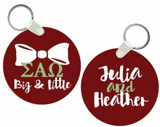 Sigma Alpha Omega Big and Little Keychain