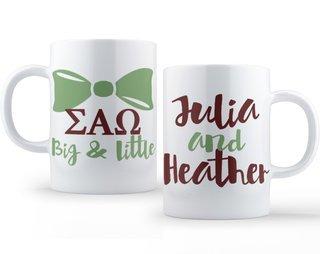 Sigma Alpha Omega Big & Little Coffee Mug