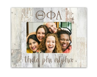 Theta Phi Alpha Letters Barnwood Picture Frame